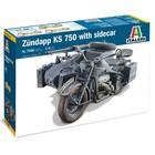 Italeri . ITA Zundapp KS750 w/Sidecar