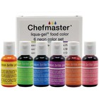 Chefmaster . CHF Liqua-Gel Color Kit 6/Pkg .7oz