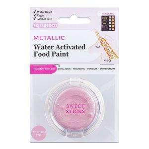Edible Art Paint . EAP Edible Art Paint - Water Activated - Fairy Floss Pink