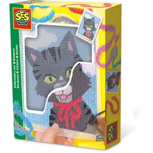 SES Creative . SES Embroidery Cat - Creativity Kit