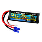Common Sense R/C . CSR Lectron Pro 14.8V 5200mAh 50C Lipo Battery Soft Pack w\EC5