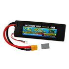 Common Sense R/C . CSR Lectron Pro 7.4V 7600mAh 35C Lipo Battery with XT60 Connector