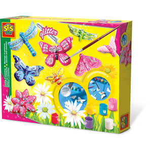 SES Creative . SES Casting & Painting Butterfly + Glitter - Creativity Kit