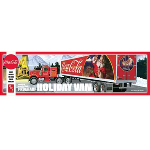 AMT\ERTL\Racing Champions.AMT (DISC) - 1/25 Fruehauf Holiday Trailer Coke