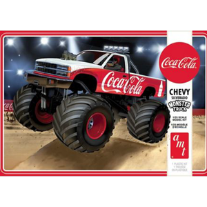 "AMT\ERTL\Racing Champions.AMT 1/25 '88 Chevy Silverado Monster Truck "" Coke """