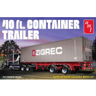 AMT\ERTL\Racing Champions.AMT 1/24 40' Semi Container Trailer