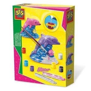 SES Creative . SES Glitter Dolphin - Casting & Painting Creativity Kit