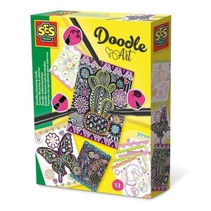 SES Creative . SES Doodle Colouring Cards Activity Kit