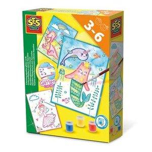 SES Creative . SES Aqualine Glitter Cards Activity Kit