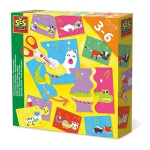 SES Creative . SES Animal Puzzle - Learn to Use Scissors Activity Kit