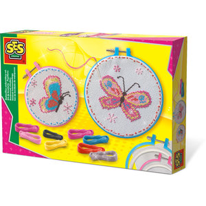 SES Creative . SES Butterflies Embroidery Set Activity Kit