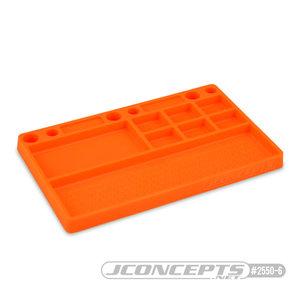 J Concepts . JCO Parts Tray, Rubber Material - Orange