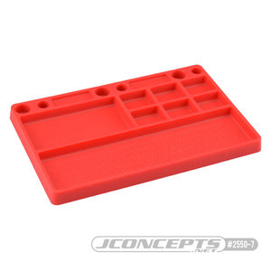 J Concepts . JCO Parts Tray, Rubber Material - Red