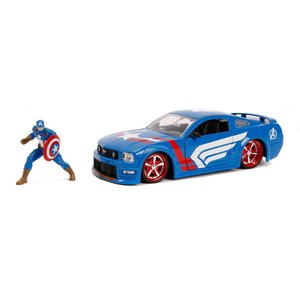 "Jada Toys . JAD ""Hollywood Rides"" 2006 Ford Mustang GT with Captain America"