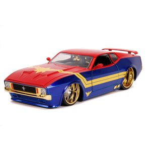 """Jada Toys . JAD 1/24 """"Hollywood Rides"""" 1973 Ford Mustang Mach 1 with Captain Marvel"""