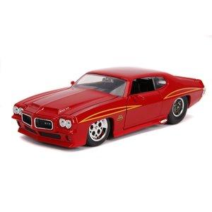 "Jada Toys . JAD 1/24 ""BIGTIME Muscle"" 1971 Pontiac GTO - Glossy Red"