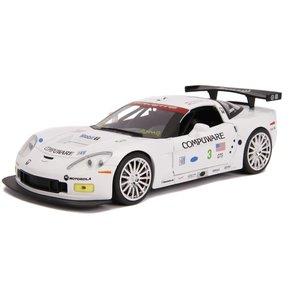 """Jada Toys . JAD 1/24 """"BIGTIME Muscle"""" 2005 Corvette C6R - White"""