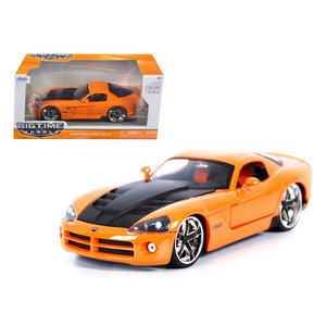 "Jada Toys . JAD /24 ""BIGTIME Muscle"" 2008 Dodge Viper SRT 10 - Orange"