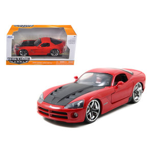 "Jada Toys . JAD 1/24 ""BIGTIME Muscle"" 2008 Dodge Viper SRT 10 - Red"