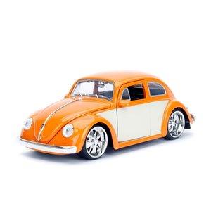 """Jada Toys . JAD 1/24 """"BIGTIME Kustoms"""" 1/24 1959 VW Beetle - Orange"""
