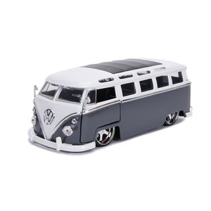 "Jada Toys . JAD 1/24 ""BIGTIME Kustoms"" 1/24 1962 VW Bus - Grey"