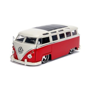 "Jada Toys . JAD 1/24 ""BIGTIME Kustoms"" 1/24 1962 VW Bus - Red"