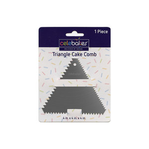 CK Products . CKP Stainless Steel - Triangle - Cake Comb