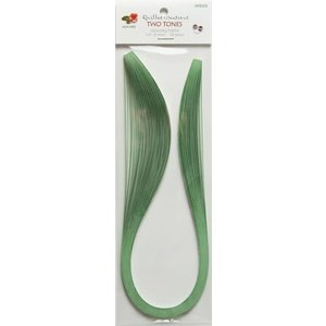 """Quilled Creations . QUI Green Two-Tone Quilling Paper (1/8"""")"""