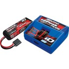 Traxxas Corp . TRA EZ Peak Multi Chemistry Battery Charger (TRA2970) with 1x4000mAh 11.1V 3 Cell 25C LiPo Batteries (TRA2849X)