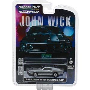 Green Light Collectibles . GNL 1:64 John Wick (2014) - 1969 Ford Mustang BOSS 429