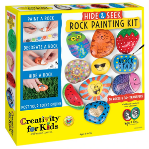Creativity for kids . CFK Hide & Seek Rock Painting