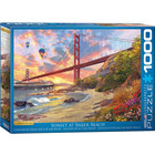 Eurographics Puzzles . EGP Sunset at Baker Beach - 1000pc Puzzle