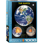 Eurographics Puzzles . EGP The Earth - 1000pc Puzzle Science Informative Space Calgary