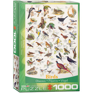 Eurographics Puzzles . EGP Birds - 1000pc Puzzle
