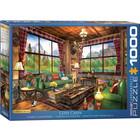 Eurographics Puzzles . EGP Cozy Cabin - 1000pc Puzzle