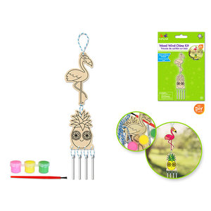 MultiCraft . MCI DIY Wood Wind Chime Kit w/Paints+Brush C) Tropicana