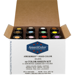 AmericaColor . AME .65 oz AmeriMist 12 Color Sheen Airbrush Kit
