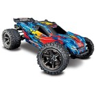 Traxxas Corp . TRA Traxxas Rustler 4X4 1/10 4WD Stadium Truck RTR Red 1