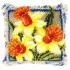 Vervaco . VVC Daffodils - Latch Hook Pillow Nature Art Flowers Calgary