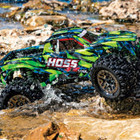 Traxxas Corp . TRA Traxxas Hoss 4X4 VXL - Green & Blue 1/10 Scale 4WD Brushless Electric Monster Truck