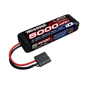 Traxxas Corp . TRA 5000Mah 2S 7.4V 25C Lipo Id Connector Soft Case 137x24x43mm