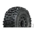 "Pro Line Racing . PRO Pro-Line Badlands SC 2.2""/3.0"" All Terrain Tires Mounted on Raid Black 6x30 Removable Hex Wheels (2) for Slash 2wd & Slash 4x4 Front or Rear"