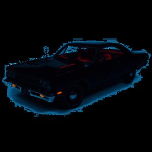 Auto World . AWD American Muscle 1/18 1969 Plymouth GTX Hardtop (MCACN) - X9 Black Velvet