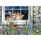 Dimensions . DMS Feline  Love - Counted Cross Stitch