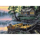 Dimensions . DMS Morning Lake - Cross Stitch