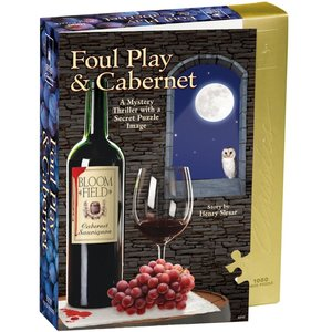 University Games . UGI Foul Play & Cabernet Jigsaw Shaped Puzzle 1000 pcs