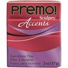 Sculpey/Polyform . SCU Red Glitter Premo Clay 2oz