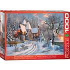 Eurographics Puzzles . EGP Christmas Cottage Puzzle 1000pc