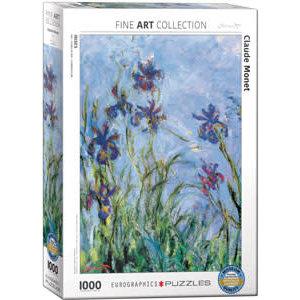 Eurographics Puzzles . EGP Irises By Monet Puzzle 1000pc
