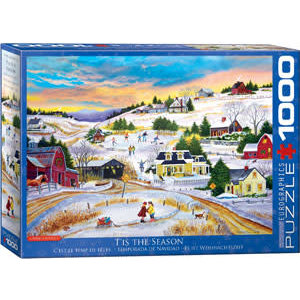 Eurographics Puzzles . EGP Bourque - T'is The Season Puzzle 1000pc